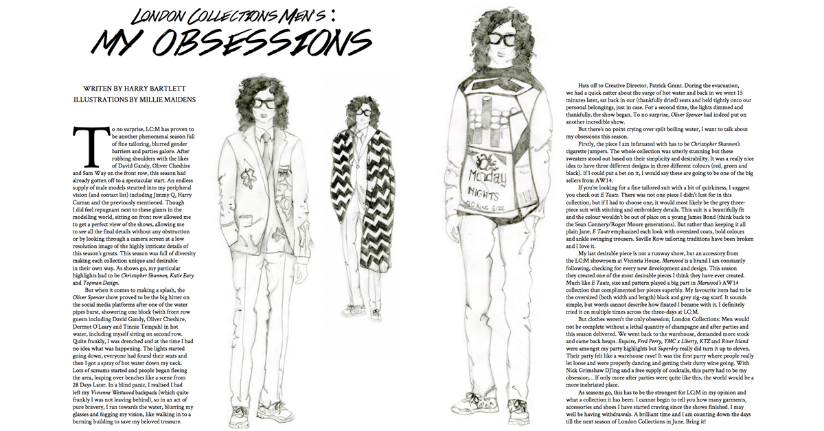 ATLAS Magazine | The Obsessions Issue: London Collections: Men – My Obsessions