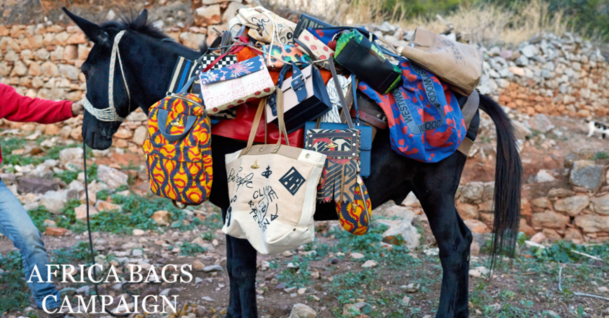 "Vivienne Westwood Ethical Fashion Initiative Bags ""Handmade with Love"" in Kenya"
