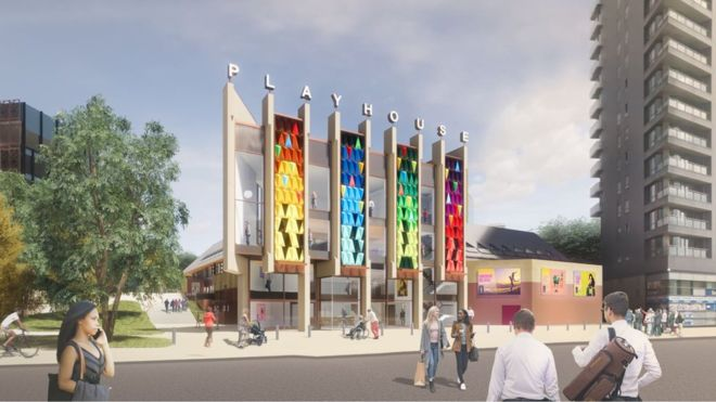 An idea of Leeds Playhouse's renovation plans