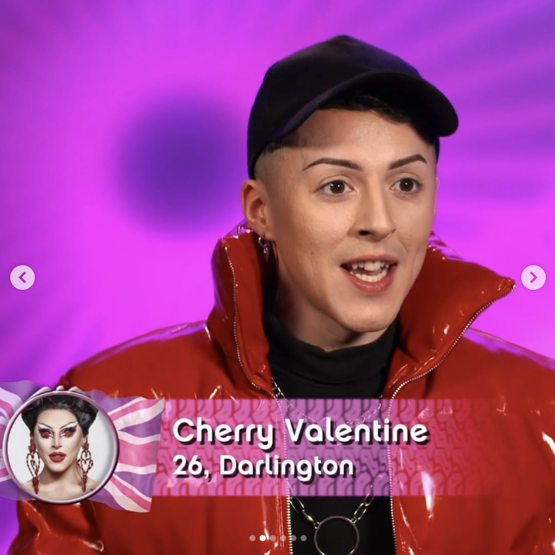 Cherry Valentine out of drag
