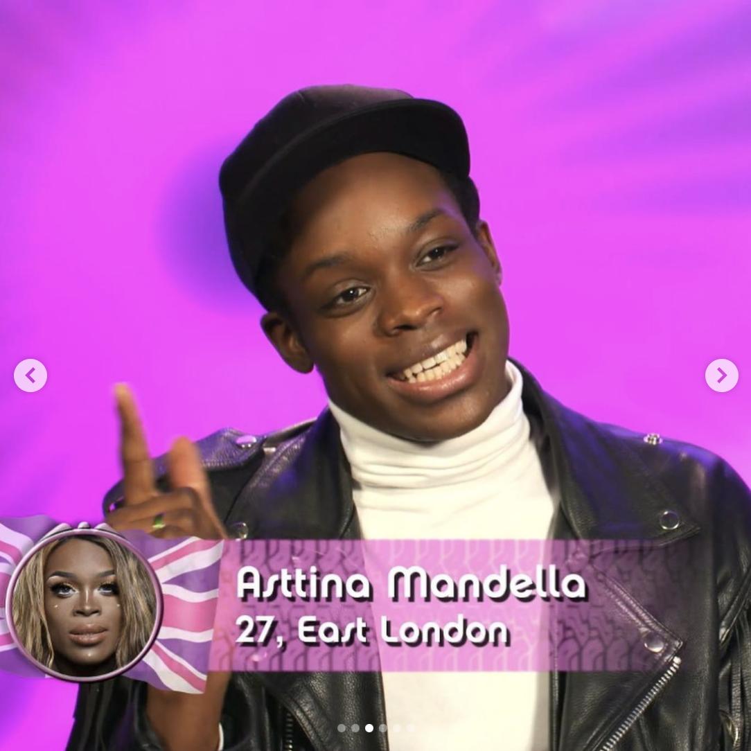 Asttina Mandela out of drag