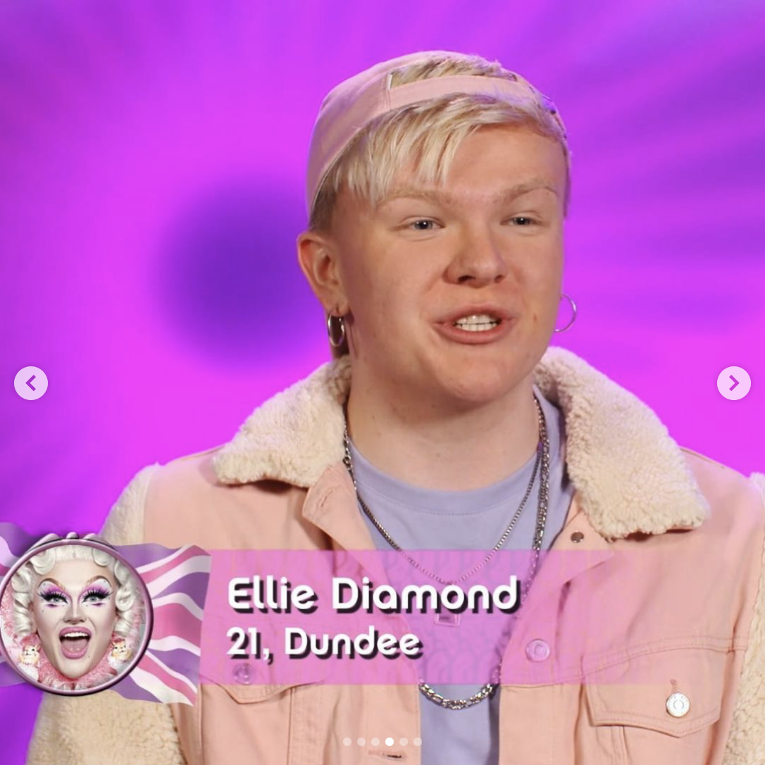 Ellie Diamond out of drag