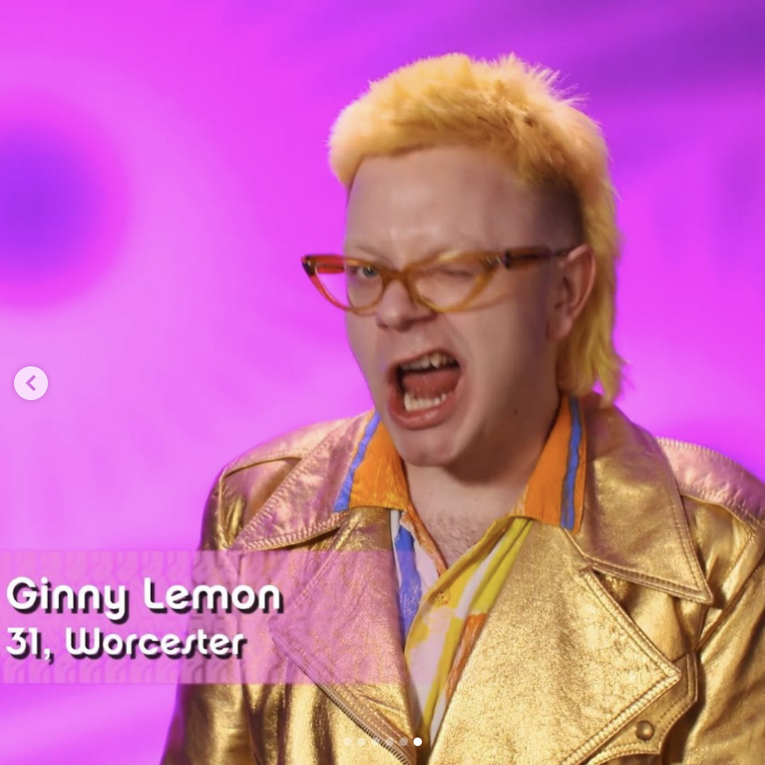 Ginny Lemon out of drag