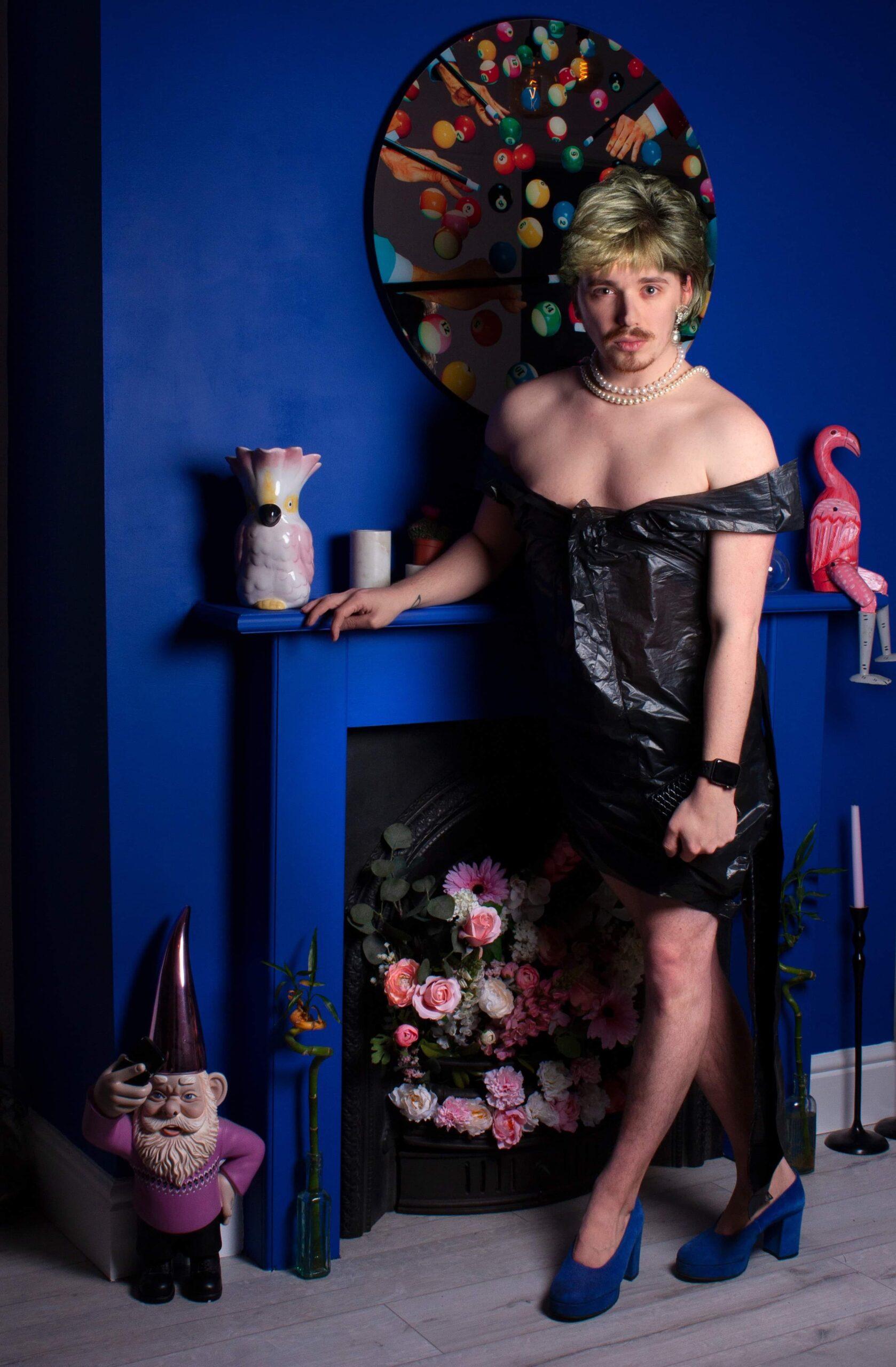 Princess Diana new blue fireplace