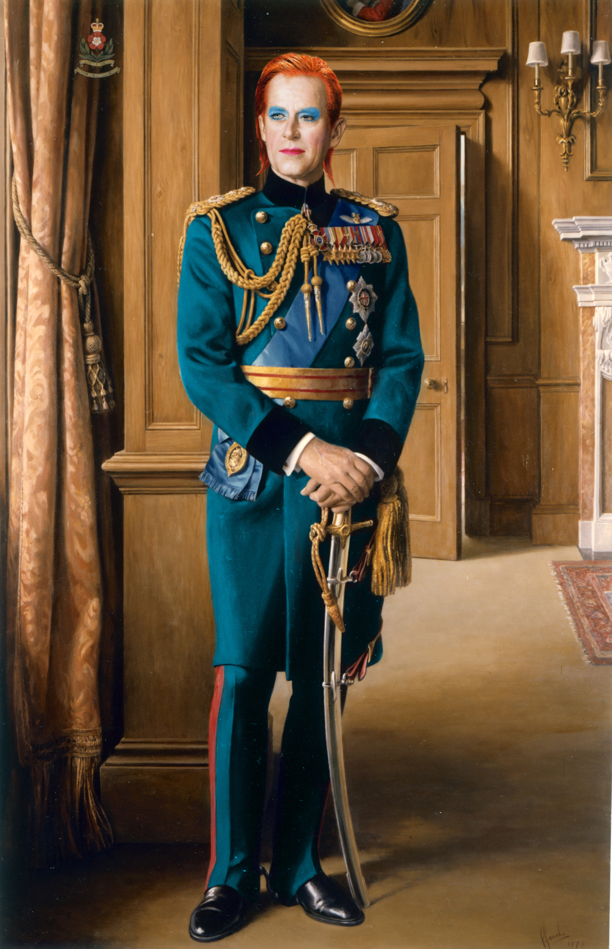 Prince Philip x David Bowie by Sassicism / Harry J Bartlett
